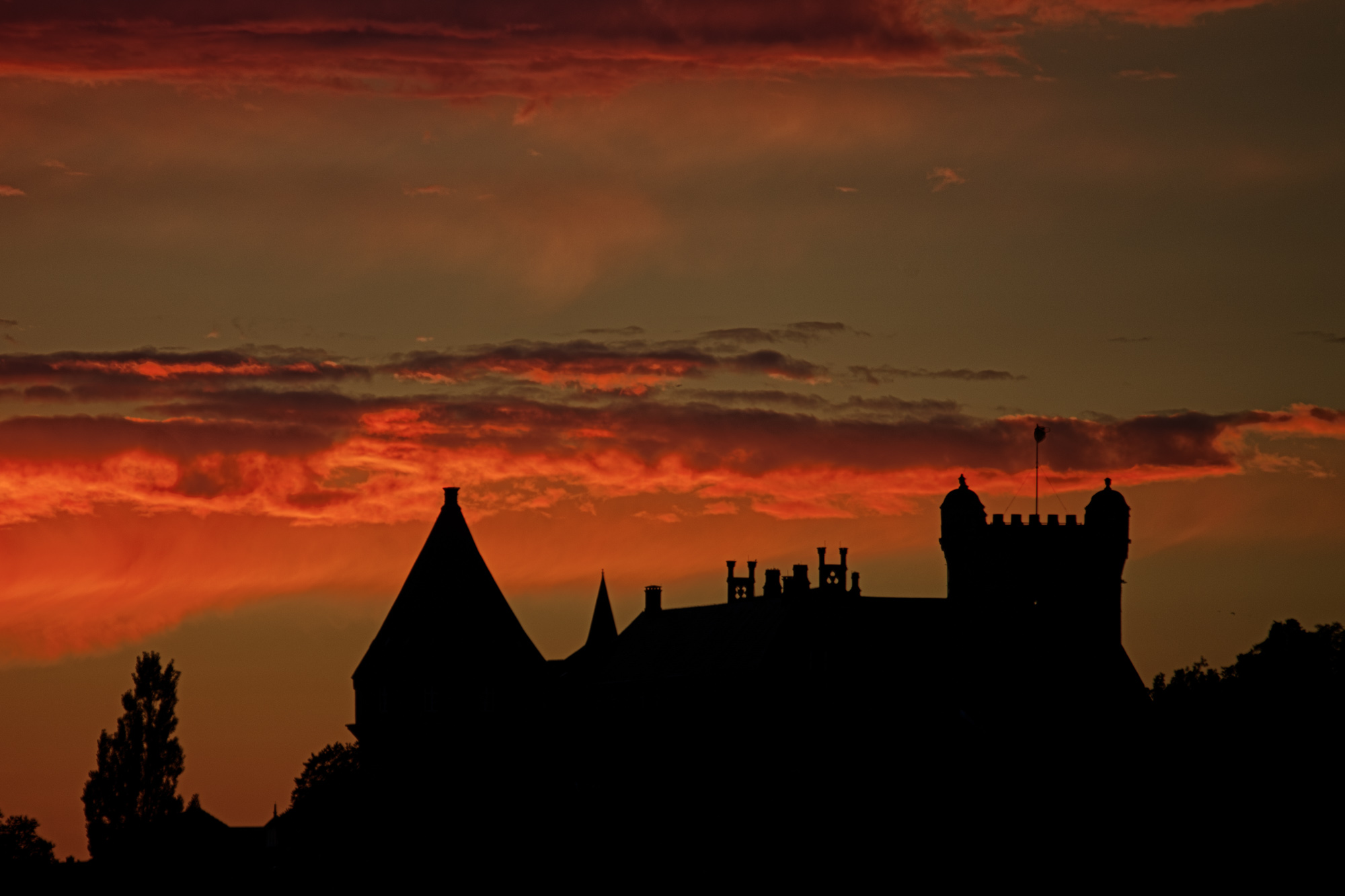 Abendrot über Burg Bentheim