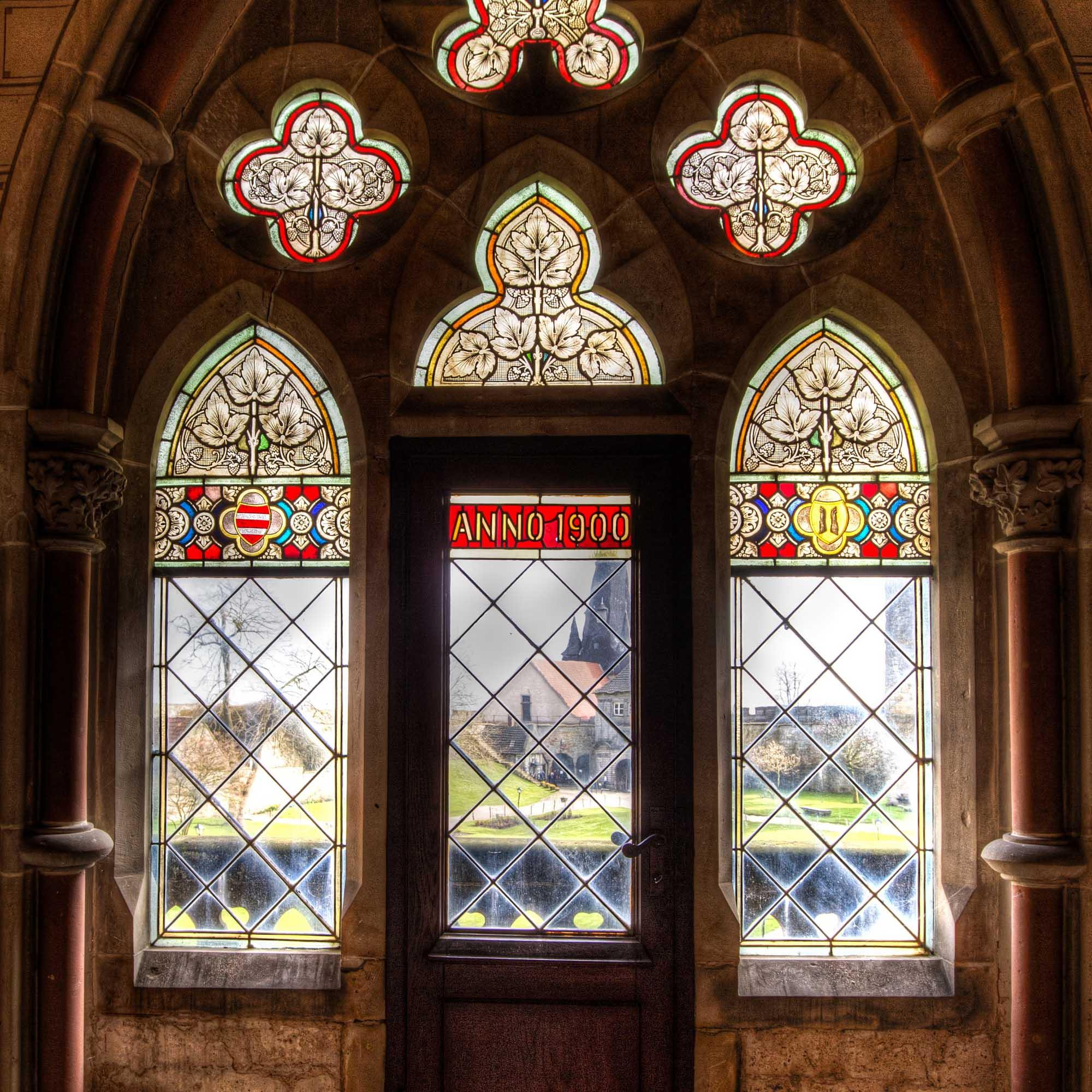 Fenster zum Innenhof der Burg Bentheim