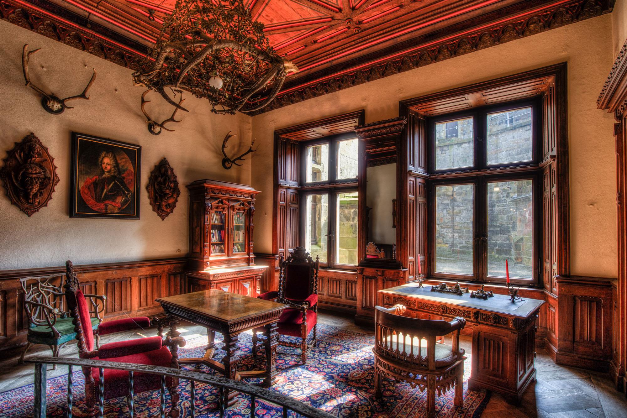 Arbeitszimmer auf Burg Bentheim