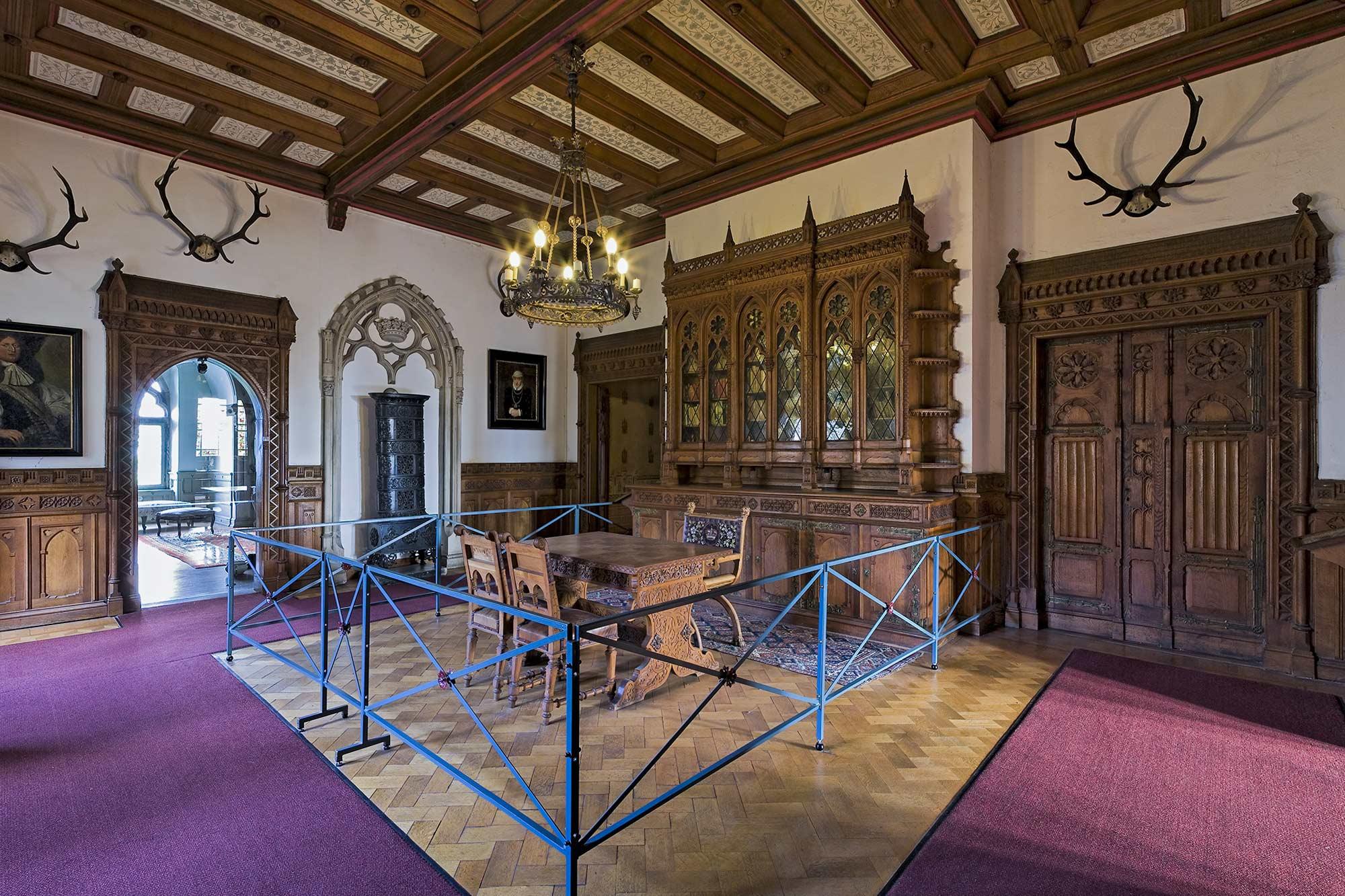 Die Bibliothek in der Burg Bentheim ©burgbentheim.de