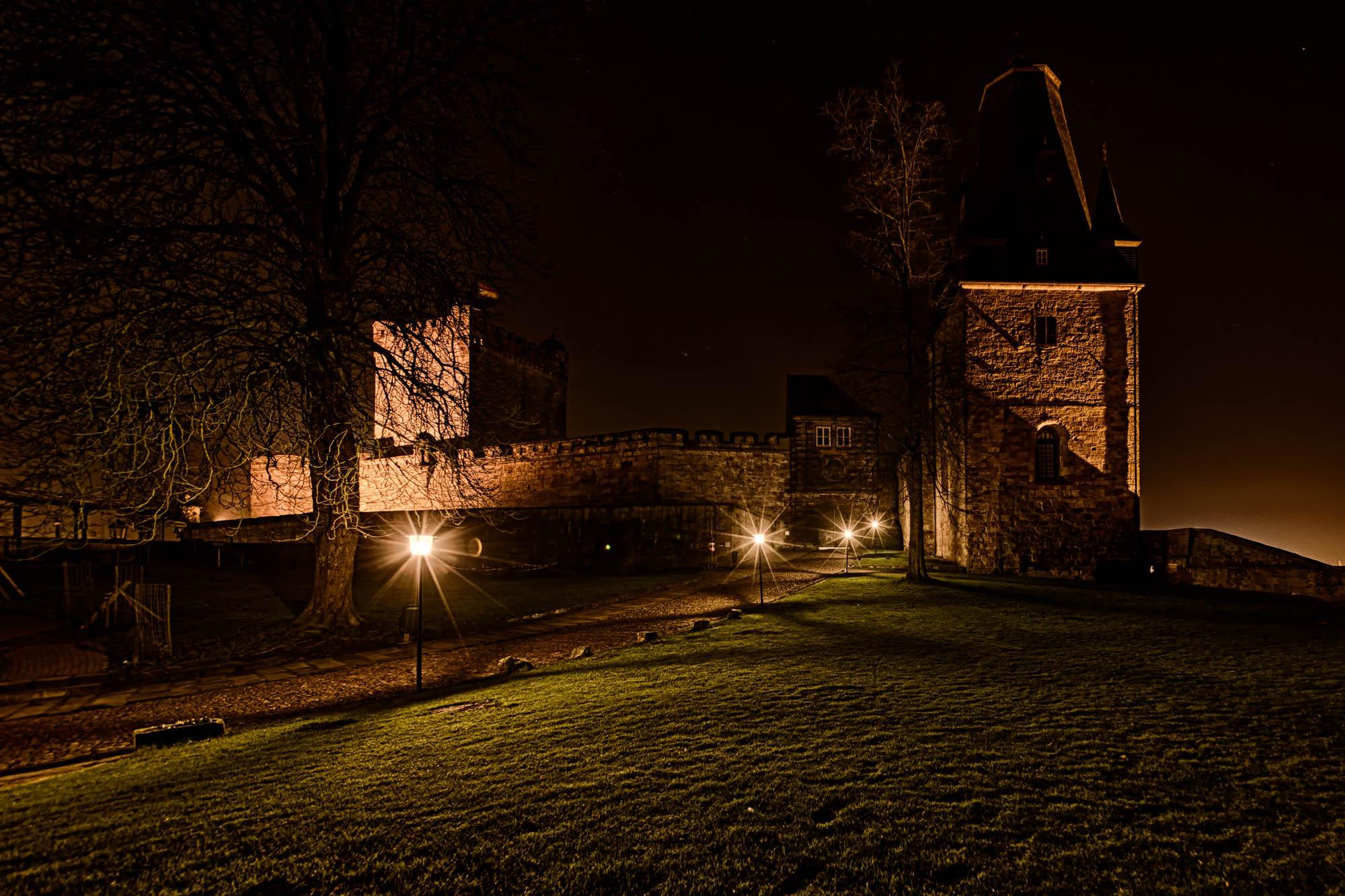 Nachts auf Burg Bentheim