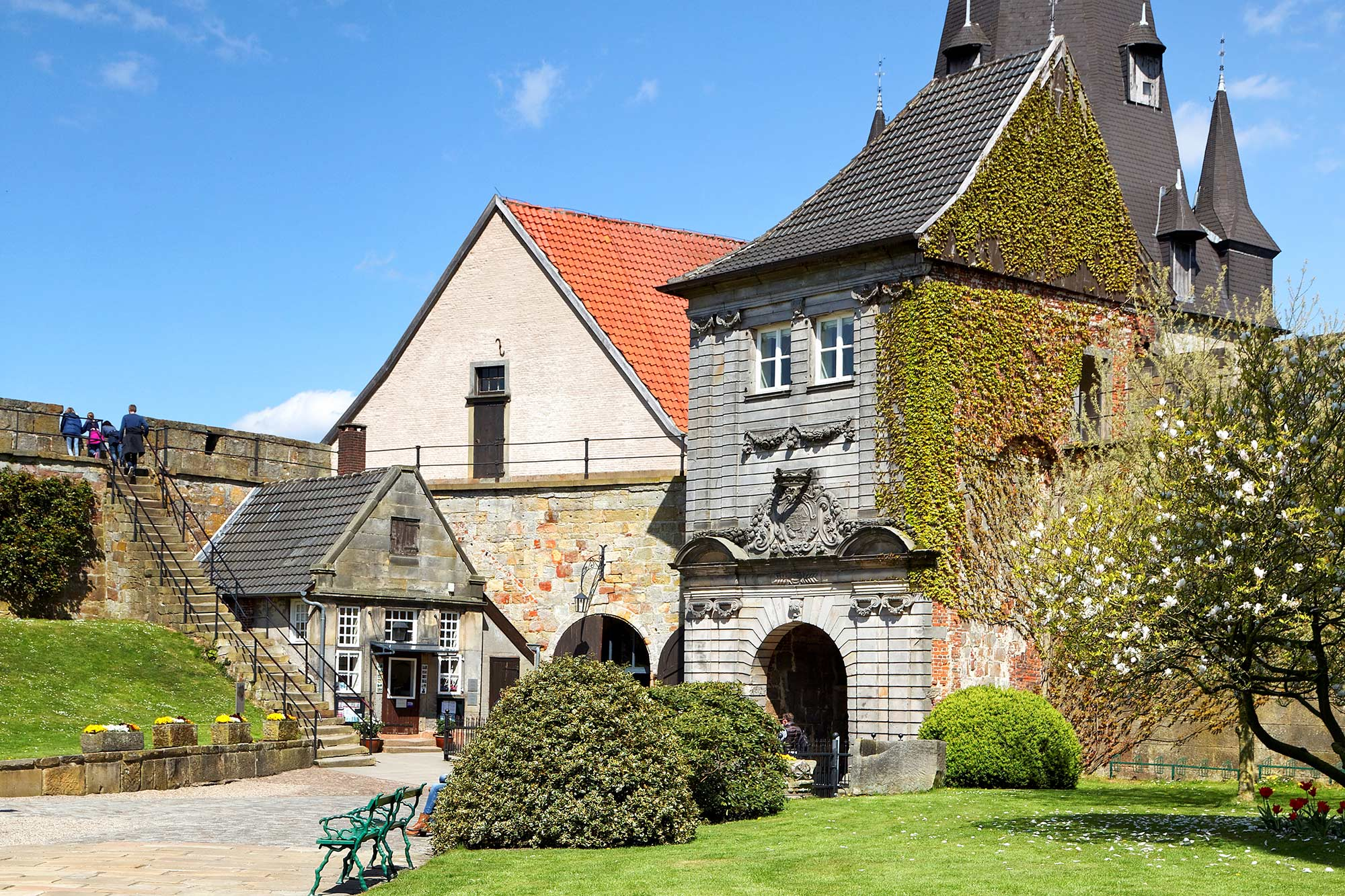 Der Innenhof der Burg Bentheim © Andreas Richter