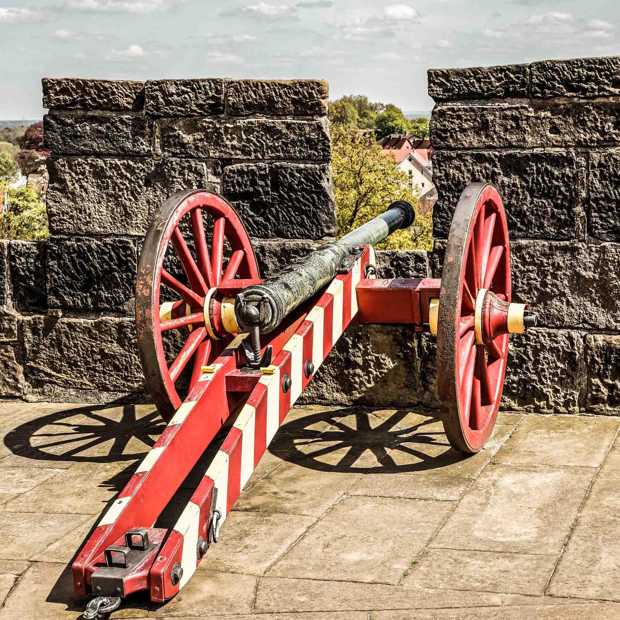 Kanone auf dem Wehr der Burg Bentheim ©Andreas Richter
