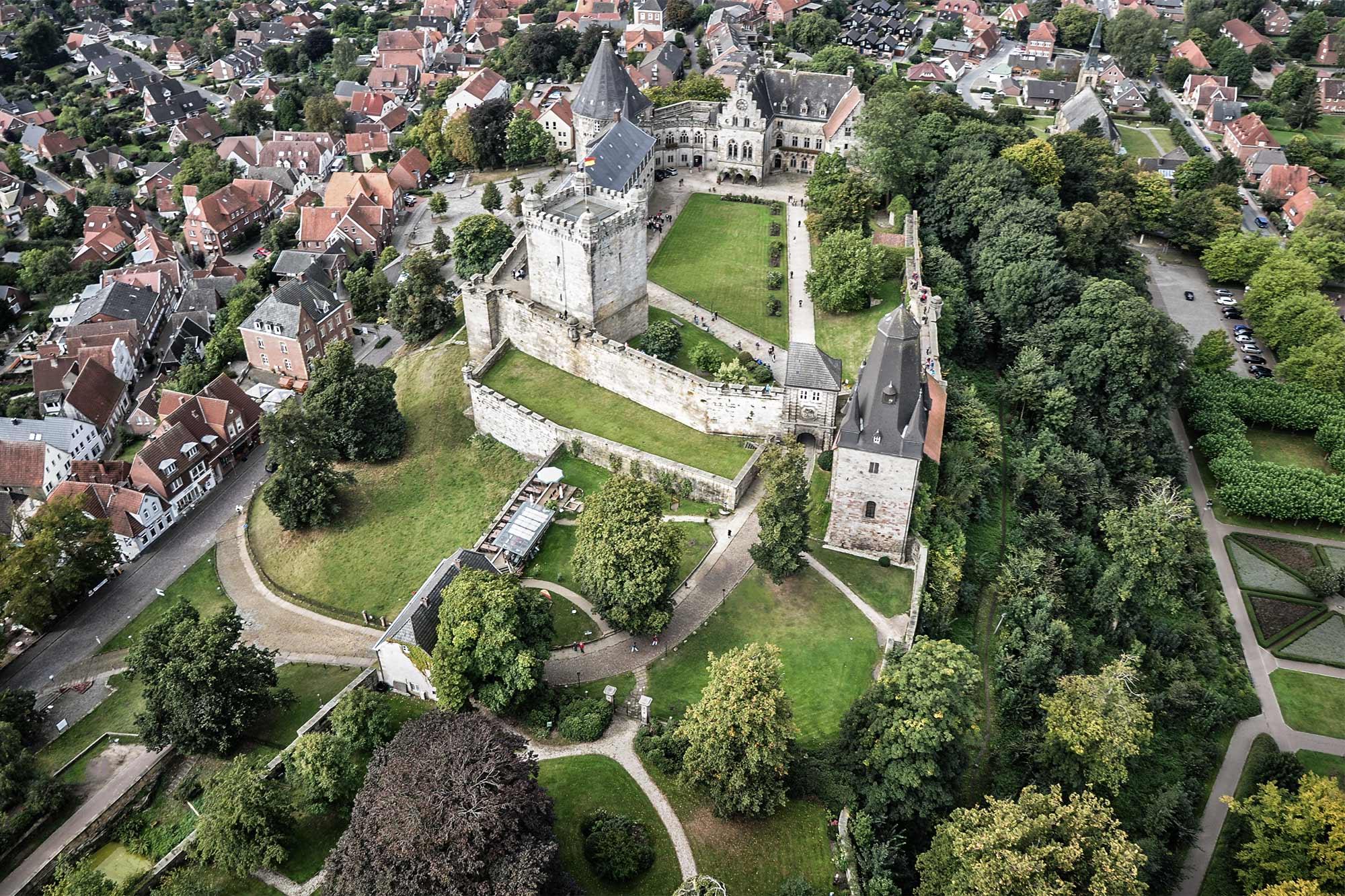 Die Burg Bentheim von oben