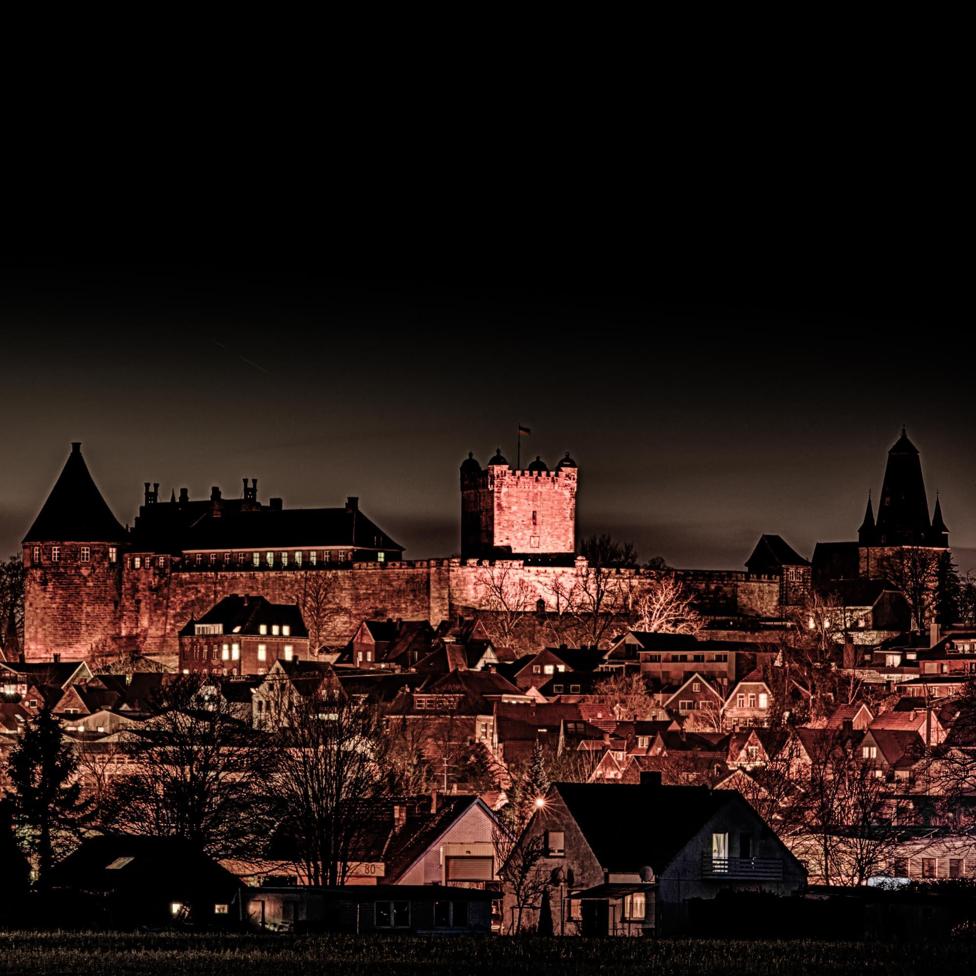 Die nächtliche Burg Bentheim