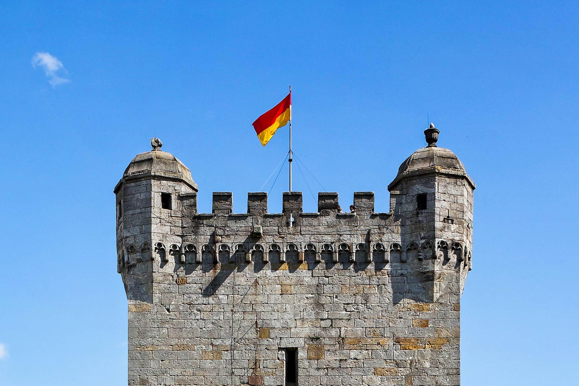 Die Spitze des Pulverturms von Burg Bentheim ©Andreas Richter