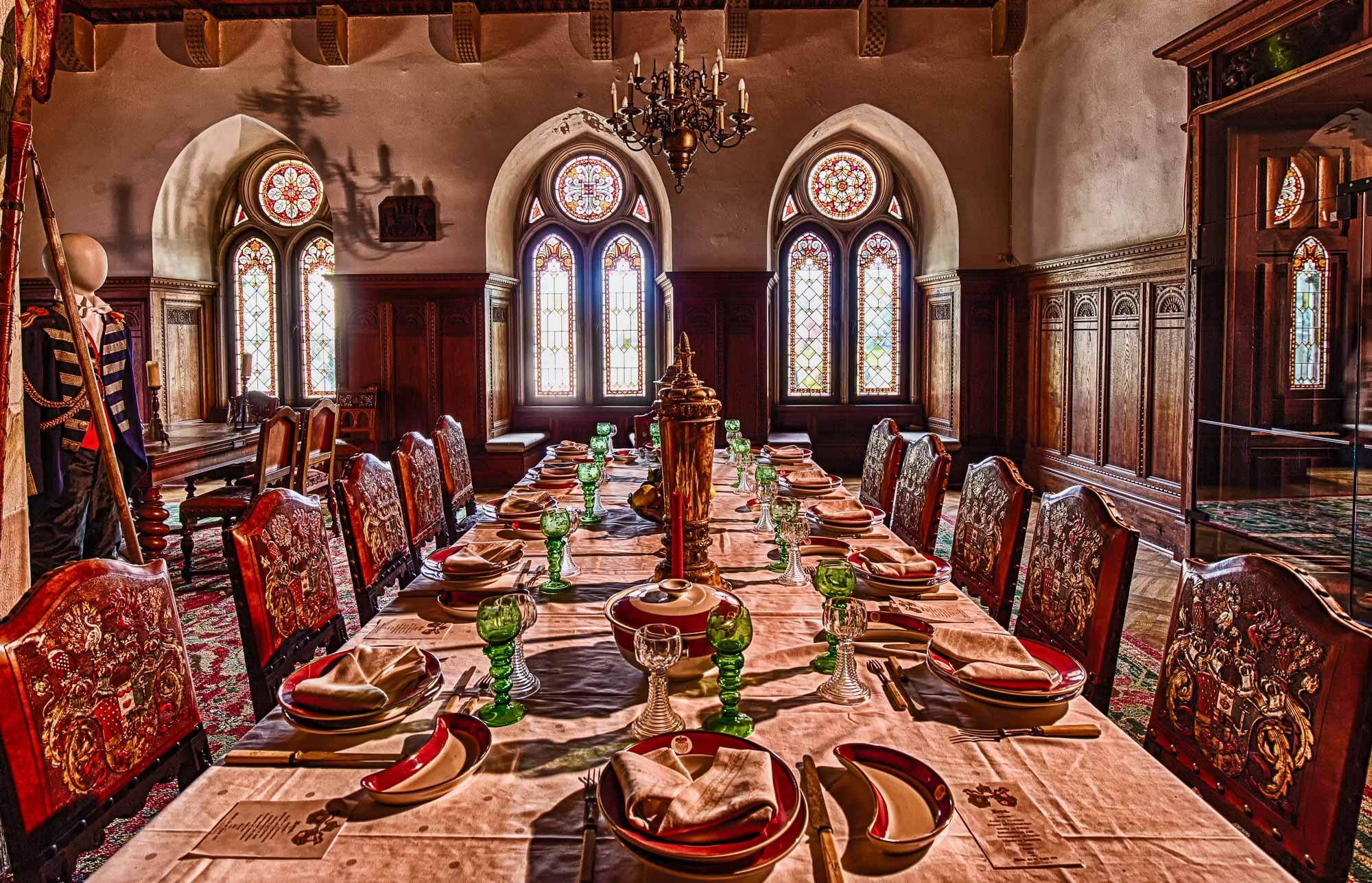 Zu Tisch auf Burg Bentheim